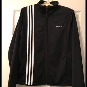 Adidas Women's  Large Jacket with Front Stripes